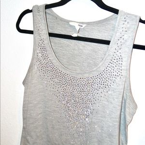 ❤️••studded front gray/silver tank••